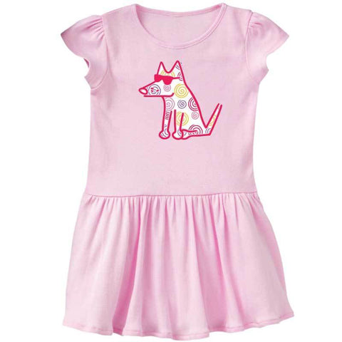Teddy's Twirl & Swirl Dress -  Toddler Dress