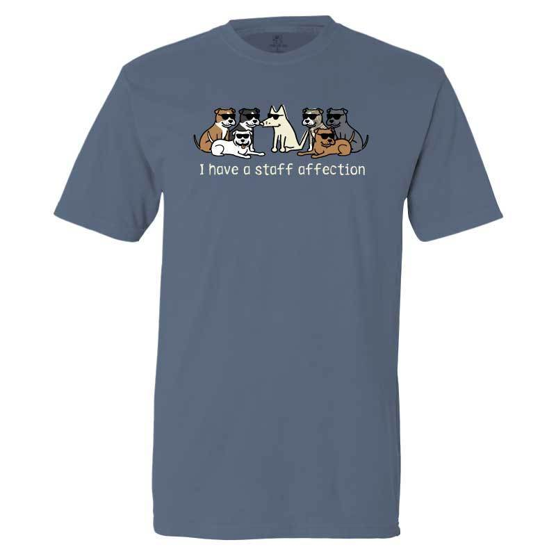 I Have A Staff Affection - Classic Tee - Teddy the Dog T-Shirts and Gifts