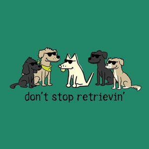 Don't Stop Retrievin' - Ladies T-Shirt V-Neck