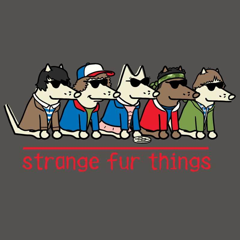 Strange Fur Things - Ladies T-Shirt V-Neck