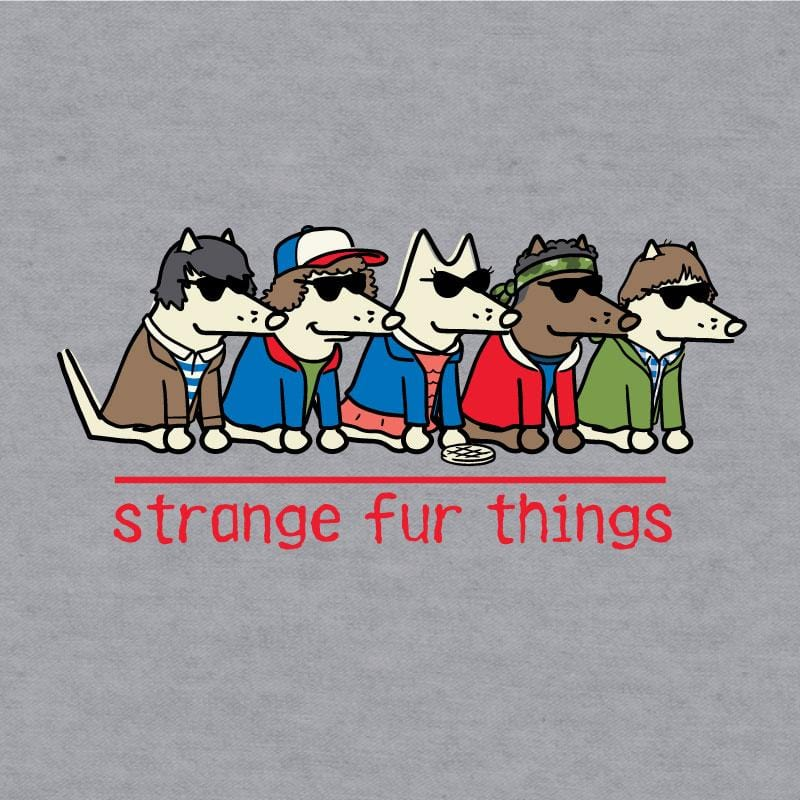 Strange Fur Things - Baseball T-Shirt