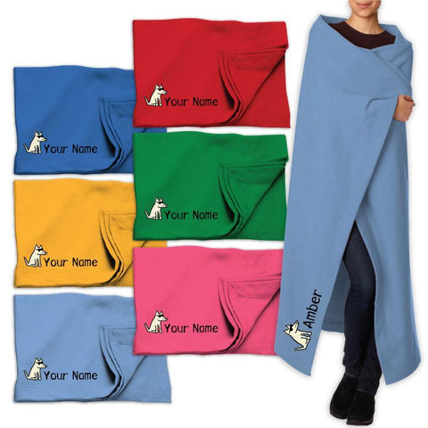 Custom Sweatshirt Blanket - Teddy the Dog T-Shirts and Gifts