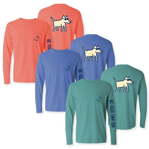Teddy The Dog T-Shirt - Long-Sleeve Pocket T-Shirt