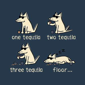 One Tequila, Two Tequila, Three Tequila, Floor - Ladies Curvy V-Neck Tee