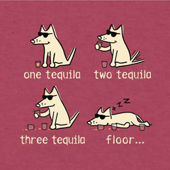 One Tequila, Two Tequila, Three Tequila, Floor - Lightweight Tee