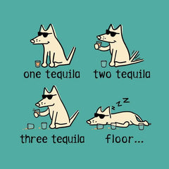 One Tequila, Two Tequila, Three Tequila, Floor - Ladies T-Shirt V-Neck