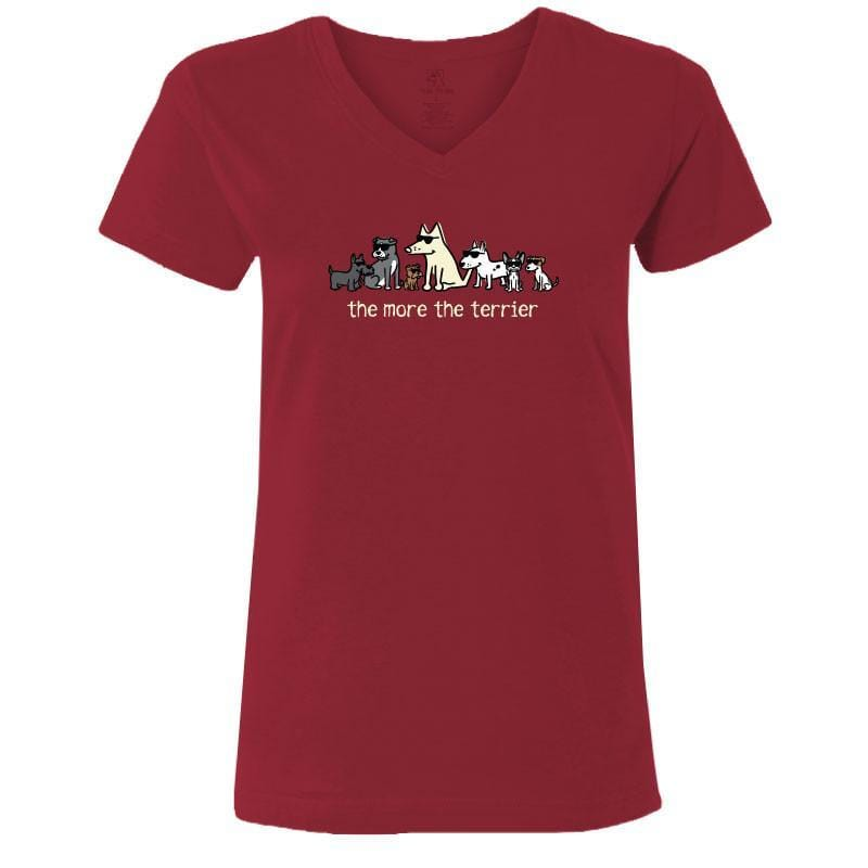 The More the Terrier - Ladies V-Neck Tee