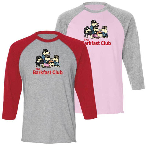 The Barkfast Club  - Baseball T-Shirt