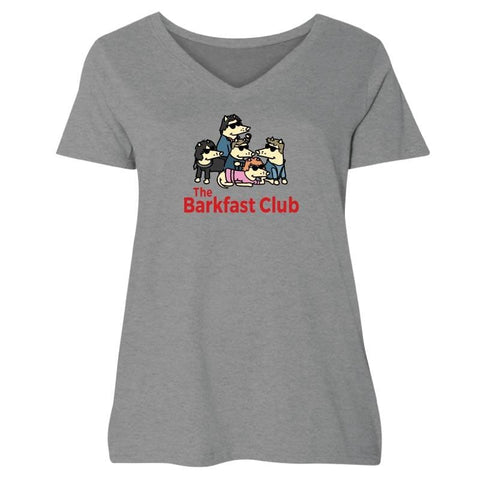 The Barkfast Club - Ladies Curvy V-Neck Tee