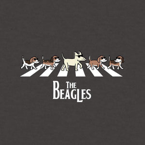 The Beagles - Ladies Curvy V-Neck Tee