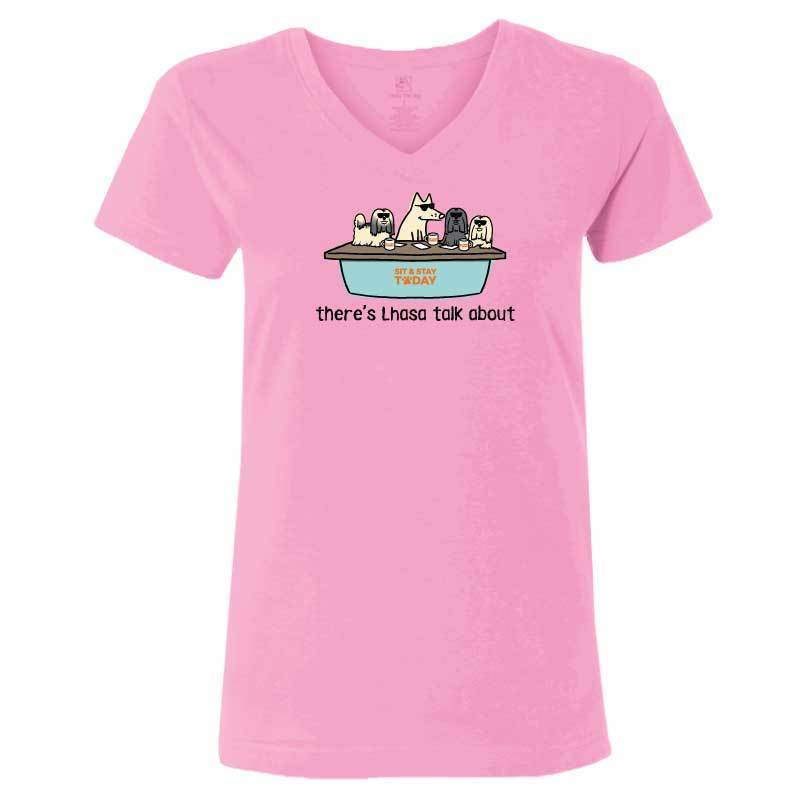There's Lhasa Talk About - Ladies T-Shirt V-Neck