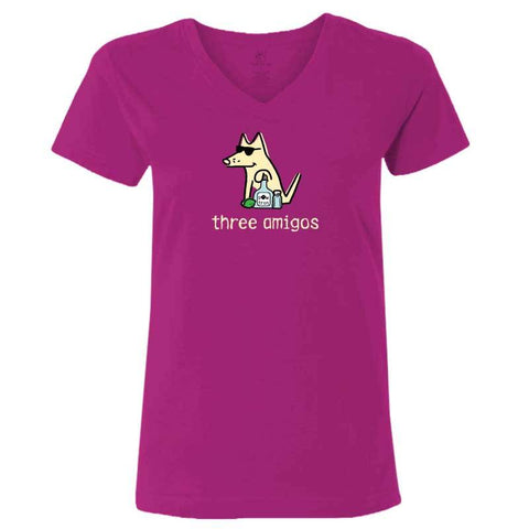Three Amigos- Ladies T-Shirt V-Neck