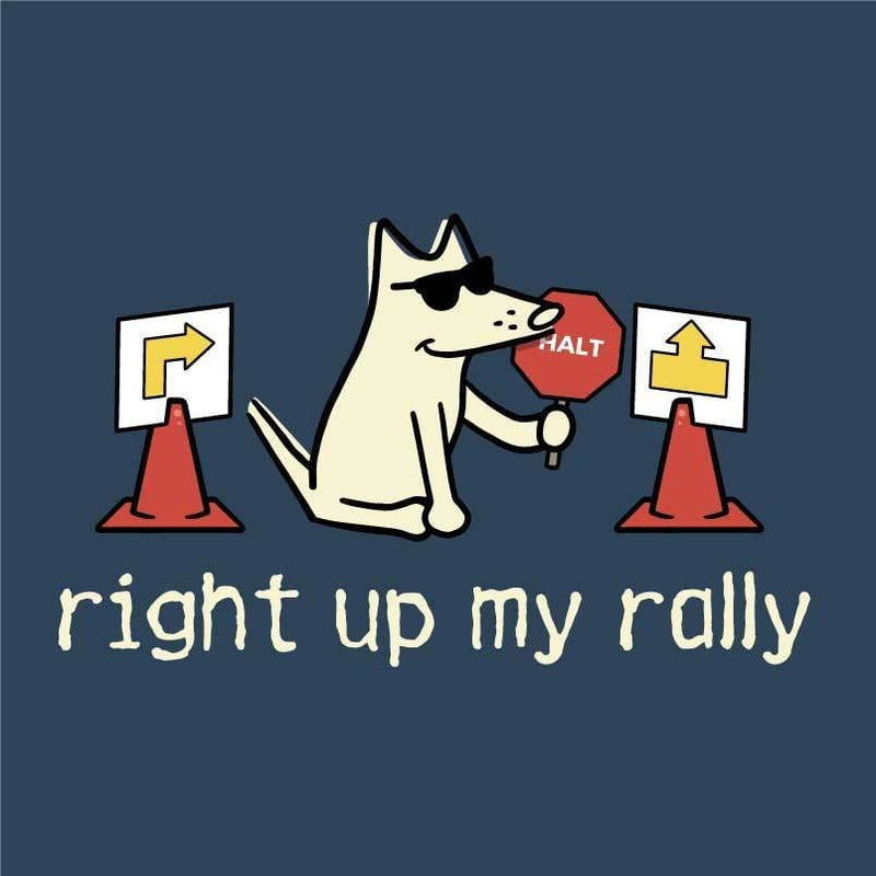 Right Up My Rally - Ladies T-Shirt V-Neck