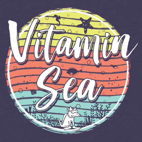 Vitamin Sea - Ladies Curvy V-Neck Tee