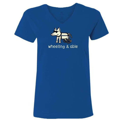 Wheeling & Able - Ladies T-Shirt V-Neck