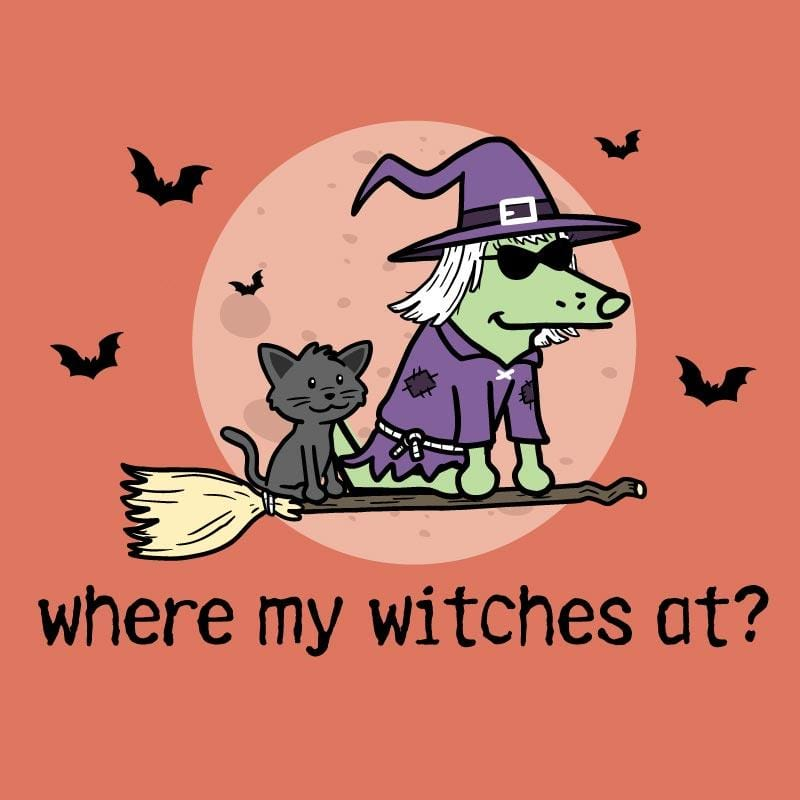 Where My Witches At? - Ladies Curvy V-Neck Tee
