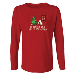 Dreaming Of A White Christmas - Ladies Long-Sleeve T-Shirt