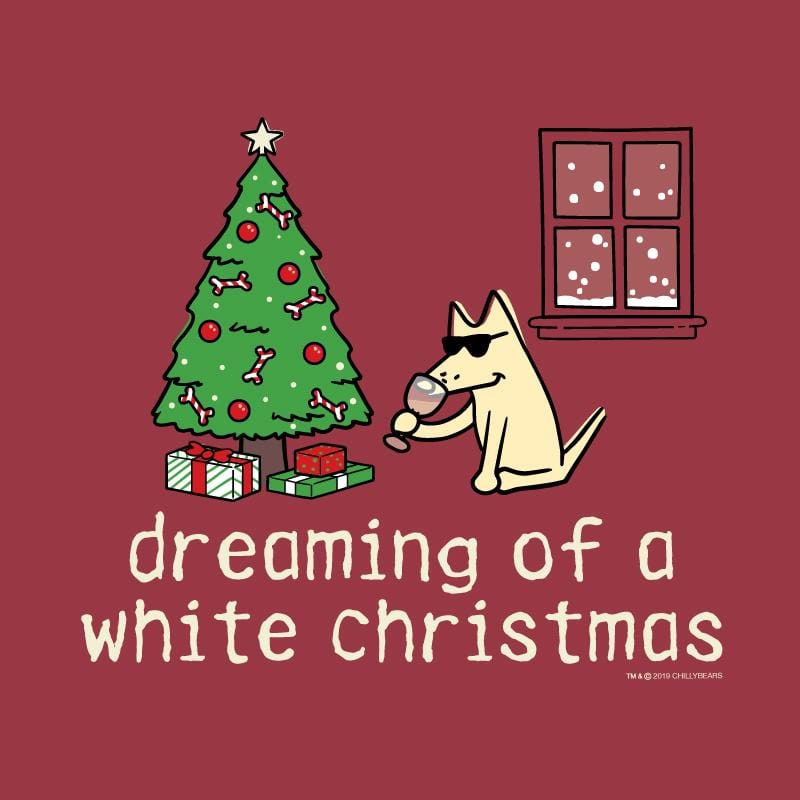 Dreaming Of A White Christmas  - Classic Long-Sleeve T-Shirt
