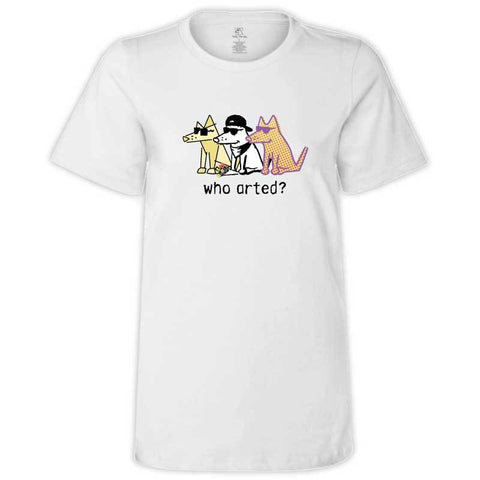Who Arted? - Ladies T-Shirt Crew Neck