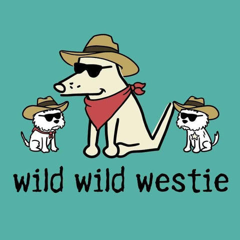 Wild, Wild Westie - Ladies T-Shirt V-Neck