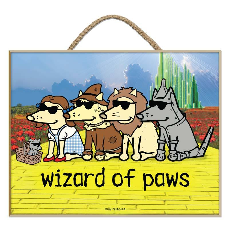 Wizard Of Paws - Plaque