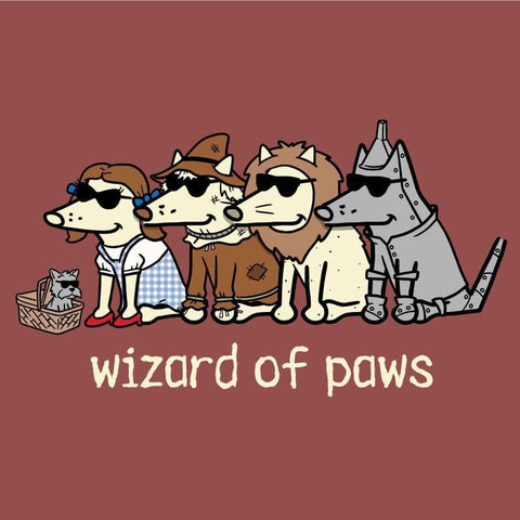 wizard of paws garment dyed classic t-shirt