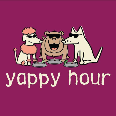 Yappy Hour - Ladies T-Shirt 3-4 Sleeve