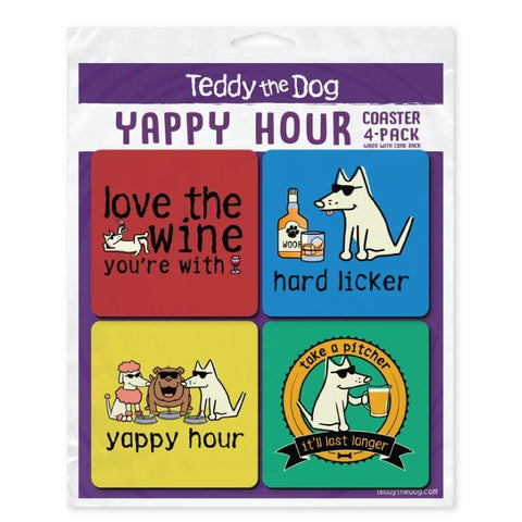 Yappy Hour Coaster 4-Pack