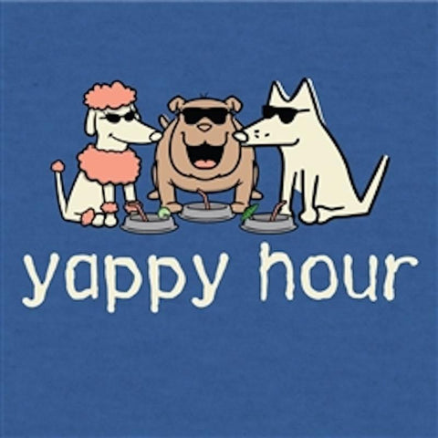 Yappy Hour - T-Shirt Lightweight Blend - Teddy the Dog T-Shirts and Gifts