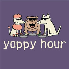 Yappy Hour - T-Shirt - Classic Garment Dyed - Teddy the Dog T-Shirts and Gifts