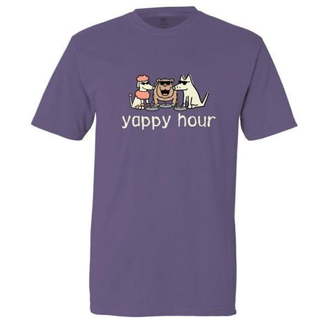 yappy hour garment dyed classic t-shirt