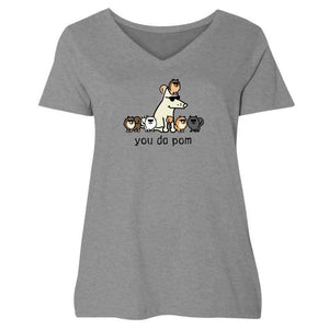 You Da Pom - Ladies Curvy V-Neck Tee