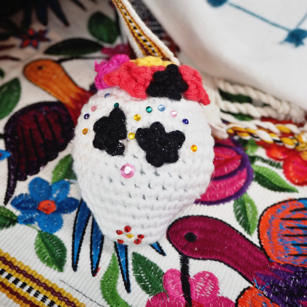 Traditional Crochet Sugar Skull (Calaverita) - Package of 3