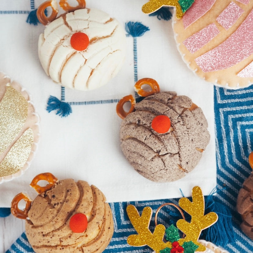Christmas Reindeer Conchas - Minimum 10 per order, any flavour