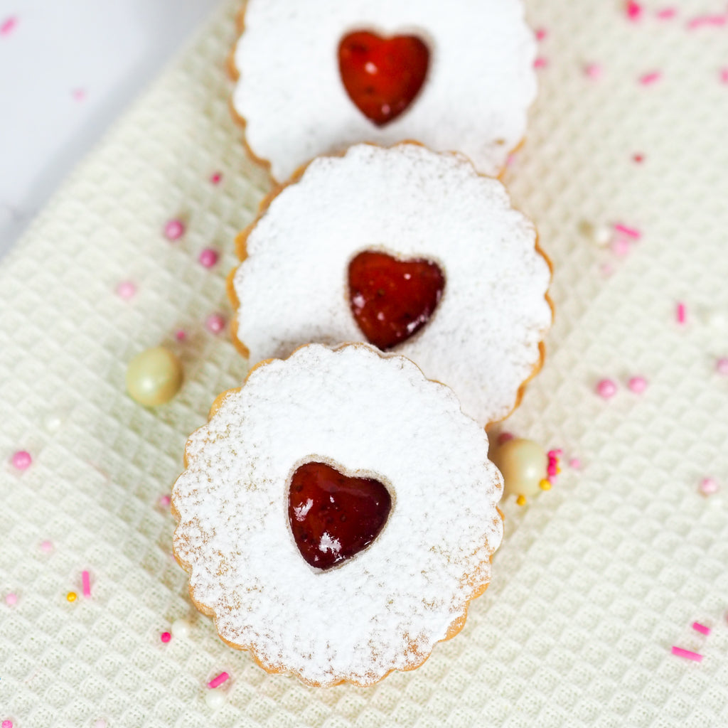 Valentine's Jam Biscuits (Pack of 10)