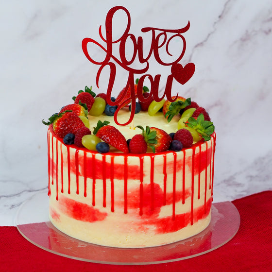 Valentine's Day Tres Leches Cake