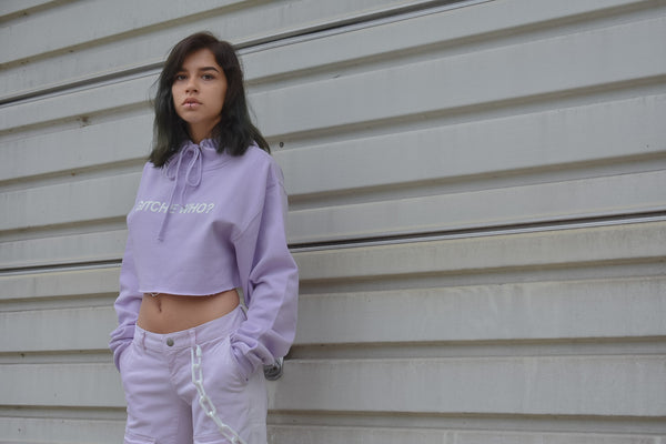 Gitche Who? Cropped Hoodie
