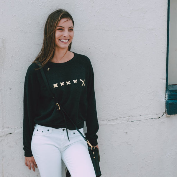 Signature Gold X Fleece Crop Sweatshirt