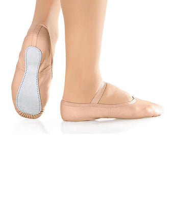 Full Sole Leather Ballet Shoe available in Pink, White and Black