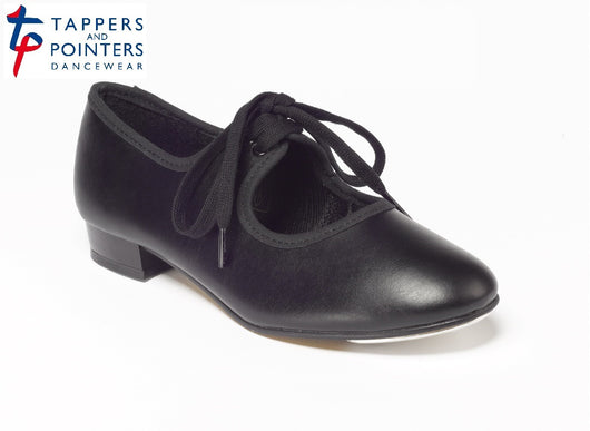 Tappers & Pointers Lace Up, Low Heel Tap Shoes: Black or White