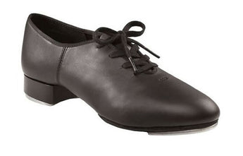 Split sole tap shoes, black.