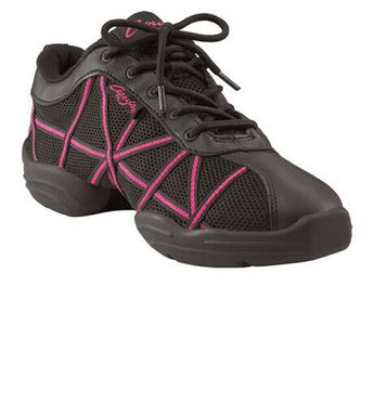 Children's Web Sneaker in Hot Pink for Jazz, Stage Work, Zumba and other dancing styles.