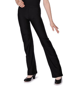 Black nylon,  lycra jazz pants from Roch Valley