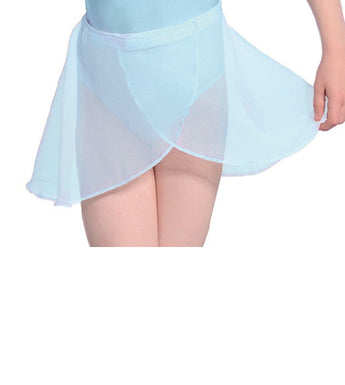 Georgette Wrap Over Ballet Skirt, Blue