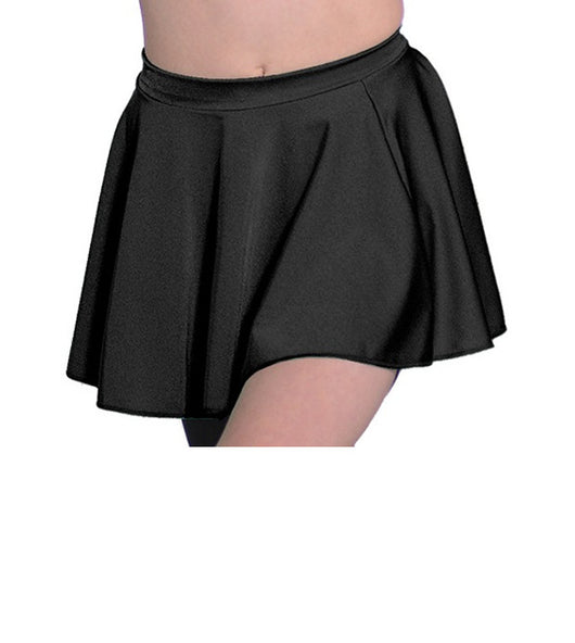 Black circular dance skirt