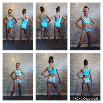 Cirkis Dancewear Chain Collection Crop Sets with Shorts