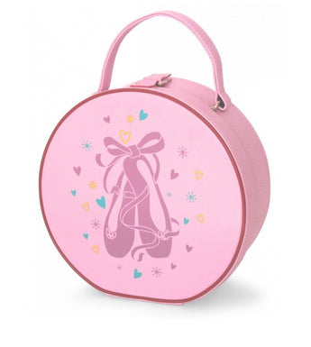 Pink vanity case for ballet and dance shoes