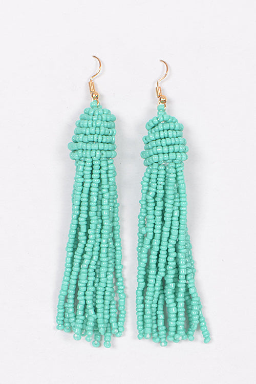 Beaded Tassel Earings
