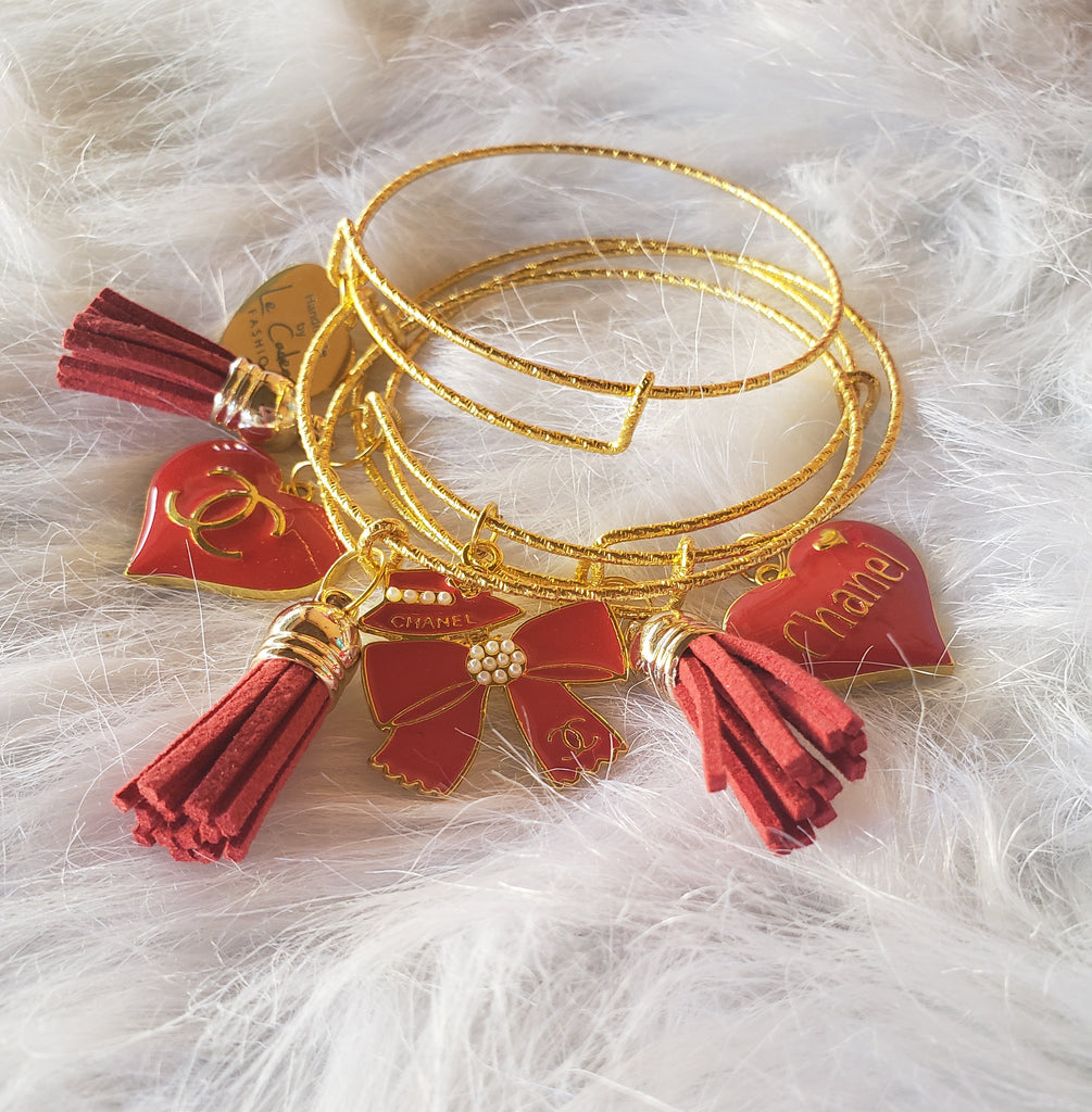Designer Inspired Bangles - Red