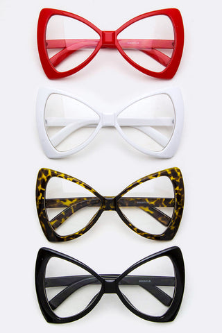 Bow Shaped Clear Sunglasses